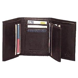 Genuine Cowhide Leather Men's RFID Tri-Fold Wallet BLACK, BROWN, TAN #4584R