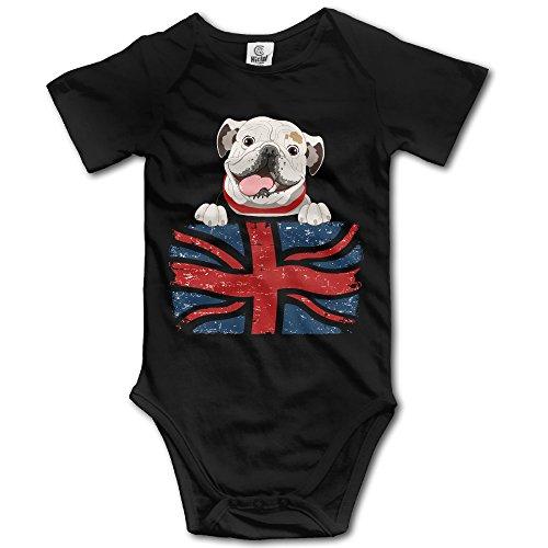 LALayton English Bulldog Organic For Jumpsuit Romper Climbing Clothes - Black