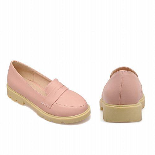 Spectacle Briller Mode Féminine Douce Plate-forme Loafer Appartements Chaussures Rose