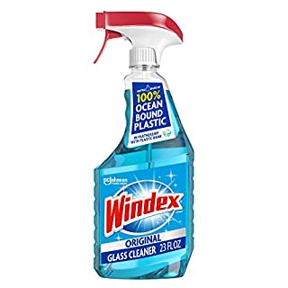 Windex Glass and Window Cleaner Spray Bottle, Original Blue, 23 fl oz