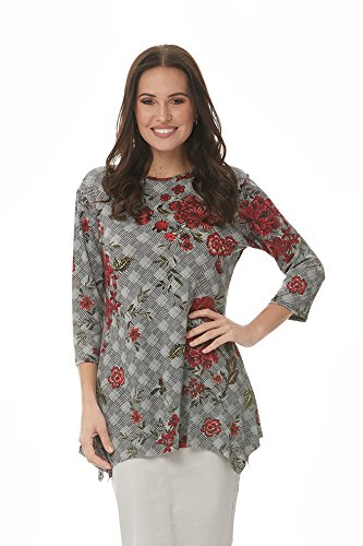eeve Loose Fitting Top Daisy Houndstooth 3X (Le Top Daisy)