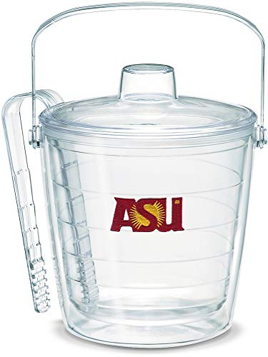 Bucket Ice Ncaa Devils (Tervis 1053332 Arizona State Sun Devils Ice Bucket with Emblem and Clear Lid 87oz Ice Bucket, Clear)