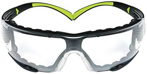 3M SecureFit 27475 400-Series, Protective Eyewear, SF401AF-FM, Foam, Clear Anti-Fog Lens, Unisex