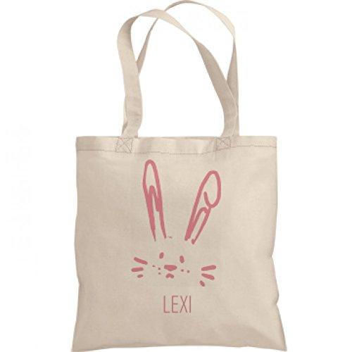 Girls Easter Bunny Egg Hunt Bag Lexi: Liberty Bargain Tote Bag (Lexi Bunny)