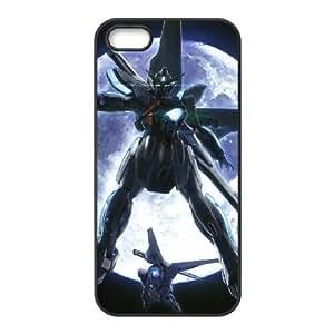 iPhone 5 5s Phone Case Covers Black MOBILE SUIT GUNDAM VCU Plastic Phone Cases Clear