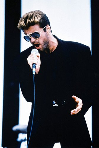 George Michael in Black in Concert Color 11x17 Mini Poster ()