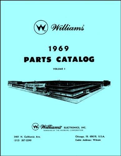 (1969 Williams Pinball Machine Coin-Op Game Parts Manual Catalog)
