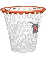 Balvi - Basket afvalemmer met grappig basketbalkorf-design, wit, van zeer robuuste kunststof.