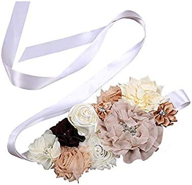 Zaptex Flower Belt Maternity Pregnancy Bridal Sash For Baby Shower