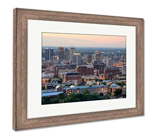 (Ashley Framed Prints Downtown Birmingham, Alabama, Wall Art Home Decoration, Color, 26x30 (Frame Size), Rustic Barn Wood Frame, AG32675147)
