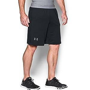 """Under Armour Men's Raid 10"""" Shorts, Black /Graphite, Large"""