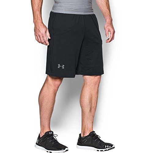 "Under Armour Men's Raid 10"" Shorts, Black/Graphite, Large"
