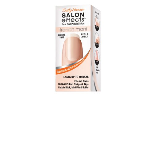 Nail French Perfect (Sally Hansen Salon Effects French Mani Real Nail Polish Strips, Excusez Moi!, 32 Count)