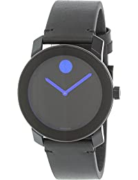 Movado Men's Bold 3600307 Black Leather Swiss Quartz Watch