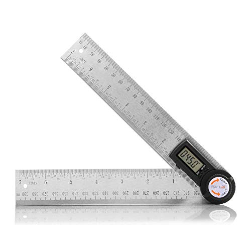Digital Angle Finder Protractor 7 Inch Stainless Steel Angle Finder Ruler 200mm with Zeroing and Locking Function