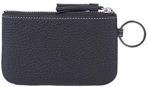 Women Leather Zip Coin Purse Key Wallet