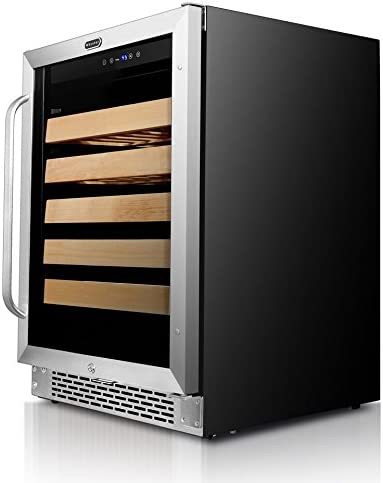 Whynter Stainless Steel Coole BWR-541STS 24 Built-In 54 Bottle Wine Refrigerator Cooler, One Size
