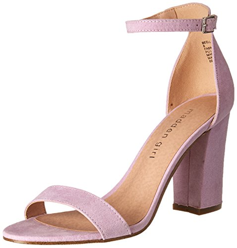 - Madden Girl Women's BEELLA Heeled Sandal, Lavender Micro, 10 M US