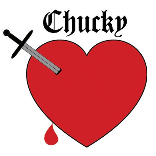 Chucky Heart Temporary Tattoos (Pack of 3) #10330