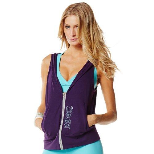 Zumba Fitness Women's Gotta Jam Sleeveless Hoodie, Purple, Medium