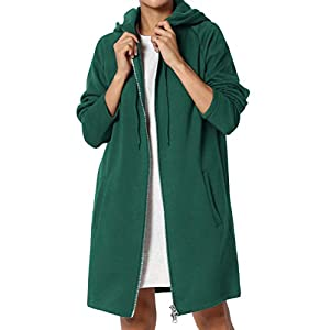 81b50457e632e3 TheMogan S~3X Basic Loose Fit Pocket Pullover Hoodie Long Tunic Sweatshirts  ...