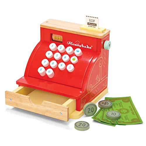 Le Toy Van TV295 red Honeybake Cash Register Cash Register Wood