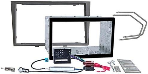 meins24 ohg M/ódulo doble DIN color gris met/álico compatible con OPEL Astra H, Corsa D, Zafira B, Antara, Tigra, Astra Twin Top