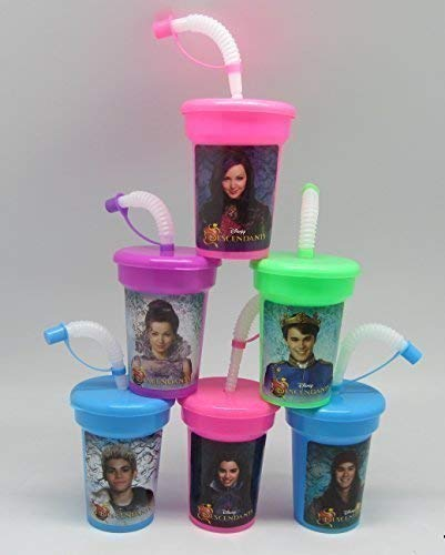 6 Descendants Stickers Birthday Sipper Cups mit Lids Party Favor Cups