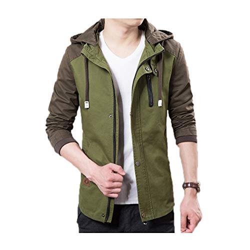 Cappuccio Uomo Sunny Rimovibile Green Con army xl Cappotto Per ZEww7Bq