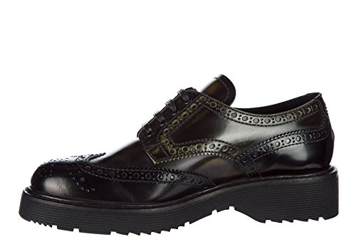Business Prada Damenschuhe Schuhe Schwarz derby Schnürschuhe Leder Damen 4gPqgxwaZ