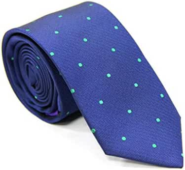 Navy Green Polka Dot Skinny Tie | Gifts for Men | Xmas Gift for Men