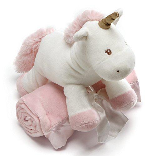 "Baby GUND Luna Unicorn with Pink Blanket Stuffed Animal Plush, Set of 2, 7"""