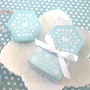 Winter Snowflake Tape Measure - Baby Shower Gifts & Wedding Favors (Set of 48)