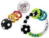 Baby : Sassy Spin Shine Rattle Developmental Toy + Rattlin Rings