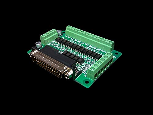 (Connectors CNC Parallel Port Interface Board Optical Isolation (Supports KCAM4, EMC2/linuxcnc) 25 Pins - (Cable Length: Other))