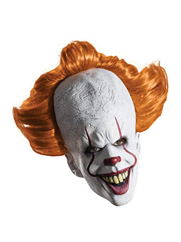 Pennywise Halloween Mask (Rubie's Men's IT Costume, 2017 Version,)