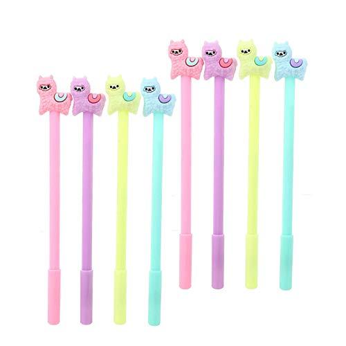 WIN-MARKET Llama Gel Pens Fashion Cute Colorful Kawaii Lovely Animal Sheep Alpaca pen Gel Ink Rollerball Pens Office School Stationery Llama pen(8PCS)