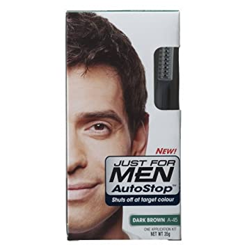 Amazon.com : Just For Men Autostop A45 Dark Brown (Pack of 3 ...