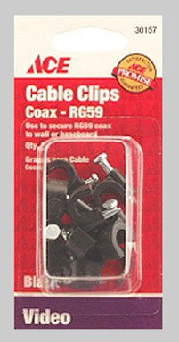 Cd/10: Ace Nail-in Rg59 Coax Cable Clips (30157)