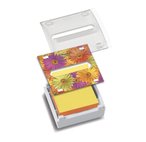 Post-it® Notes Dispenser, Pop-up Refill, 3 Inches x 3 Inches,  White with Clear Top and Dispenser Insert, Includes One Pop-up (Notepad Refills Post)