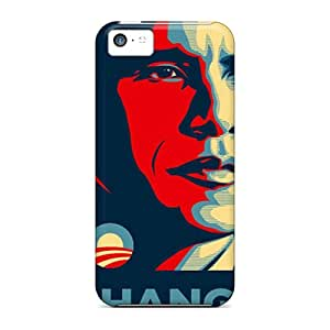 Heg4398ZuJS Cases Covers Skin For Iphone 5c (barack Obama)
