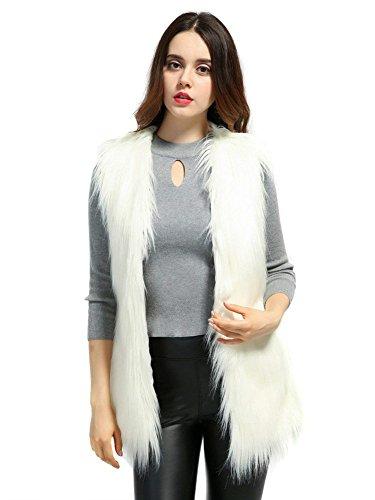 モニカ支店錫[CHOiES record your inspired fashion] [ Women`s Faux Fur Waistcoat Outerwear Vest Coat ] (並行輸入品)