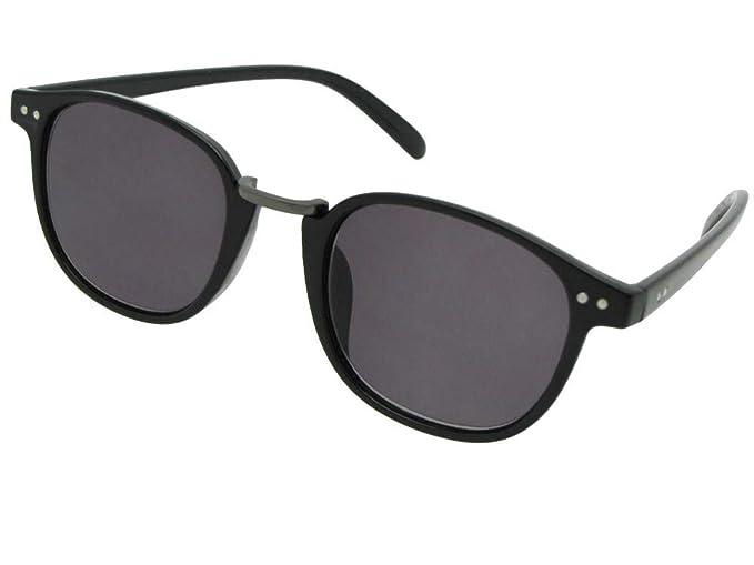 Amazon.com: Redondo Retro completa lector anteojos de sol ...