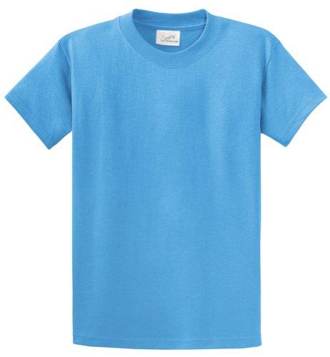 Joe's USA(tm - Youth Heavyweight Cotton Short Sleeve T-Shirt in Size M Aquatic Blue]()