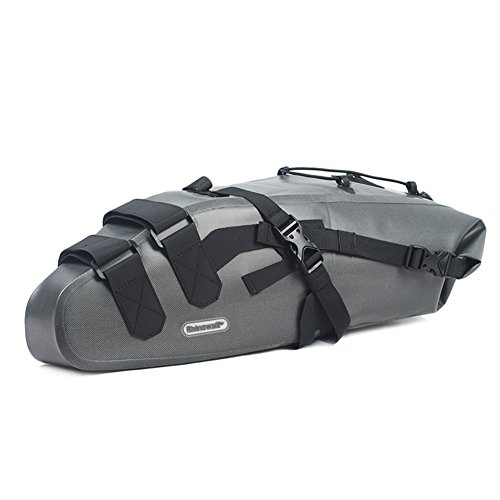 Roful RHINOWALK 10L 100% Waterproof Saddle Bike Bag Package for Bicycle Cycling (Gray) by Roful (Image #1)