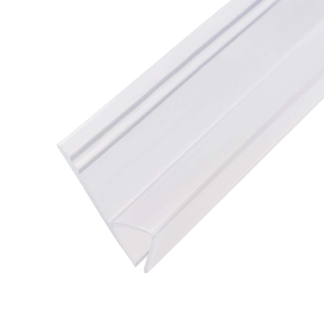 Sourcingmap cristal sin marco, tipo H Tiras de sellado para puerta de ducha