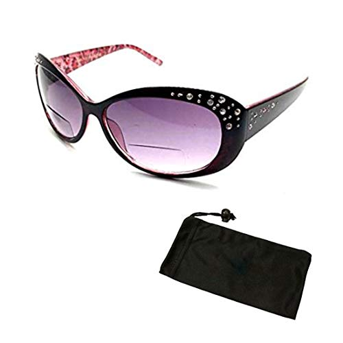 Sun Readers Reading + Sunglasses All In One Women Rhinestone Bifocal glasses