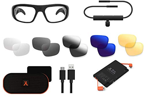 Bear Grylls Waterproof Action Camera Glasses with Full HD 1080P Additional Lenses and 3,000mAh Power Bank