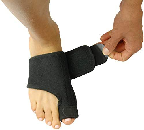 Vive Bunion Corrector Splint (Pair) - Big Toe Straightener Brace - Hallux Valgus Pad, Joint Pain Relief, Alignment Treatment - Orthopedic Sleeve Foot Wrap Night Time Support for Men and Women