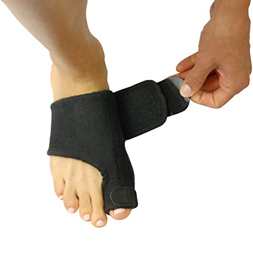 Vive Bunion Brace (Pair) - Big Toe Corrector Straightener with Splint - Hallux Valgus Pad, Joint Pain Relief, Alignment Treatment - Orthopedic Sleeve Foot Wrap Support for Men and Women (Black) (Best Treatment For Broken Toe)